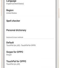 Change the language and region on your OPPO phone - ColorOS