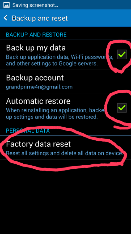 how to factory reset samsung grand prime