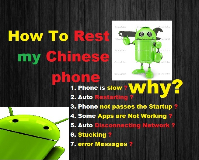 How to Factory reset chinese android phone| step by step pictures
