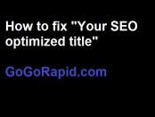 "How to fix ""your SEO optimized yoast"" header"