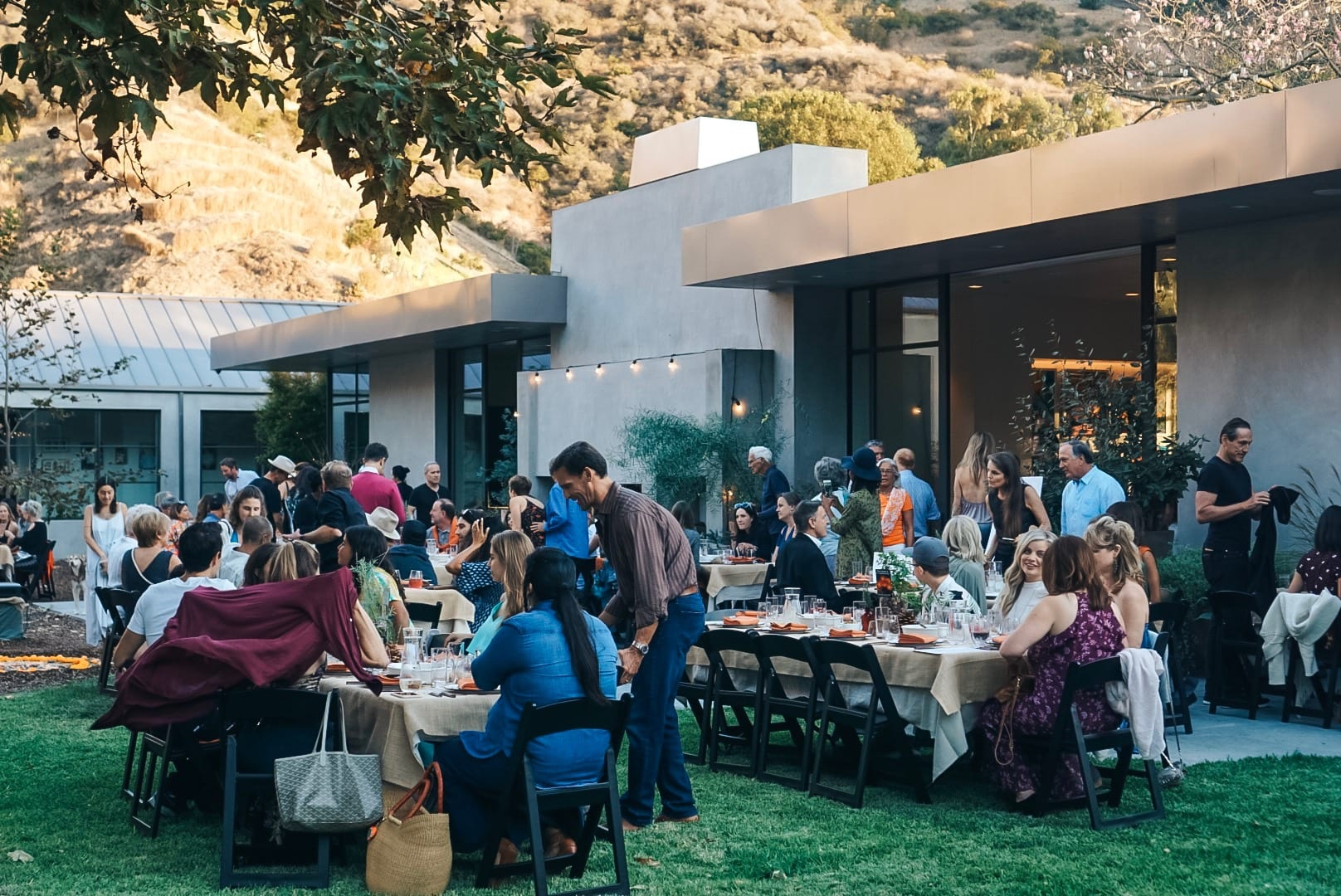 An Italian Themed Dinner Party in the Mountains of Malibu