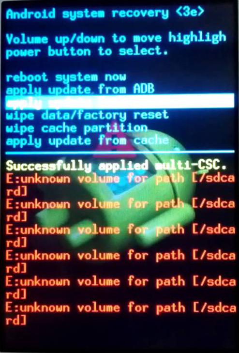 Fixed - E:Unknown volume for path [/dbdata] galaxy Grand prime