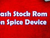 Flash Stock Rom on Spice